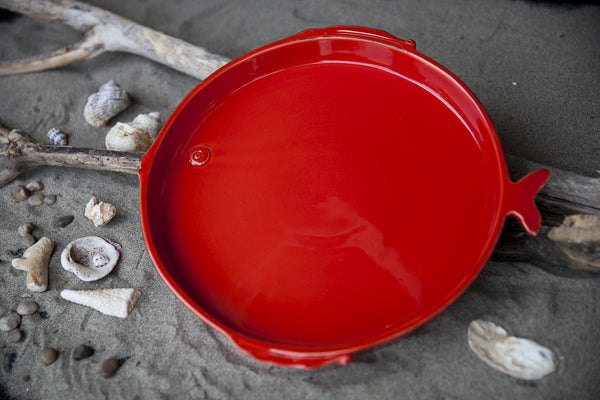Playful Ceramic Serving Tray, Handmade ceramic tray, Handmade ceramic serving tray, White serving tray, Red serving tray, Italian serving tray, Italian style serving tray, Unique serving tray, Designer serving tray, Luxury serving tray, High end serving tray, Ceramic party serving tray, Salad serving tray,