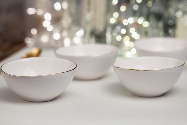 Collier Porcelain Side Bowl With Gold Rim Dishesonly