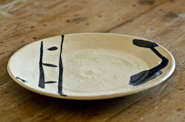 Ceramic Artistic Dinner Plate by Hans Fischer
