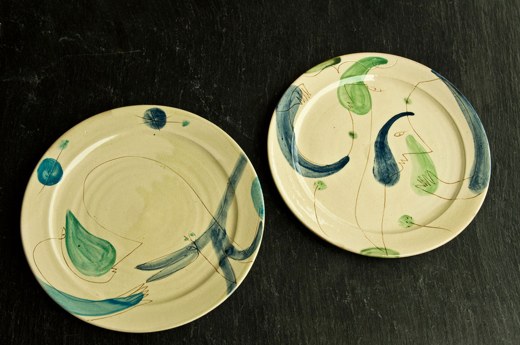Facce - Hand-Painted Ceramic Dinner Set & Facce Hand-Painted Surrealist Dinner Set by Hans Fisher \u2013 DishesOnly