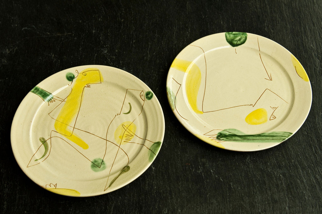 Engraved Ceramic Dishes by Hans Fischer