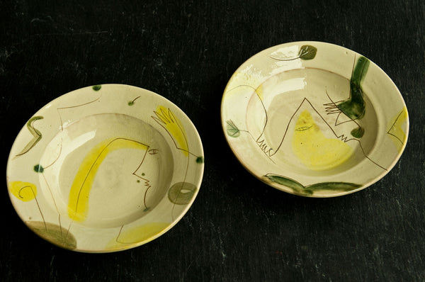 Engraved Ceramic Soup & Pasta Bowl