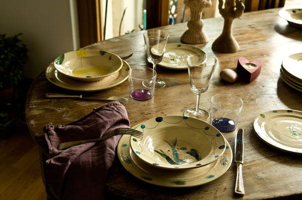 Engraved Ceramic Dinner Set