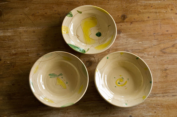 Engraved Ceramic Soup & Pasta Bowls
