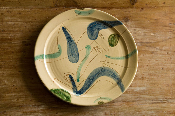 Hand-Painted Ceramic Serving Platter