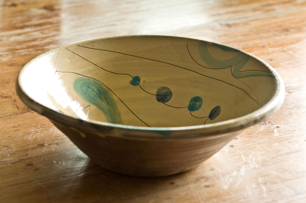 Hand-Painted Ceramic Serving Bowl
