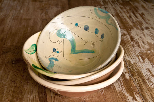 Handmade Serving Bowl by Hans Fischer