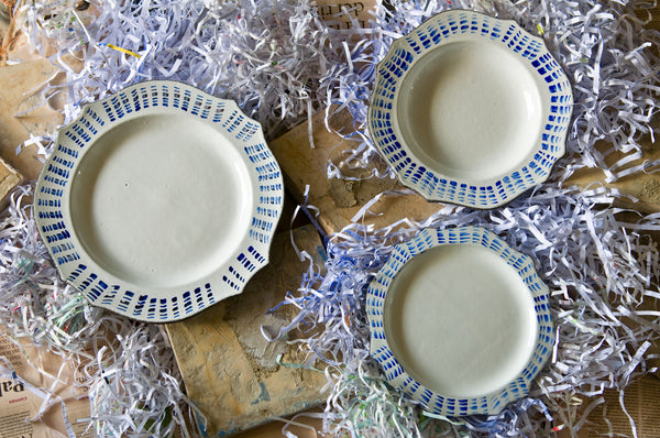Handmade Mediterranean Ceramic Dinner Set Made in Italy