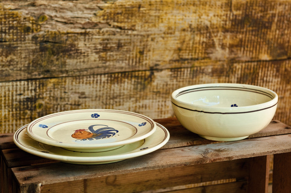 Hand-Painted Rustic Dinner Set