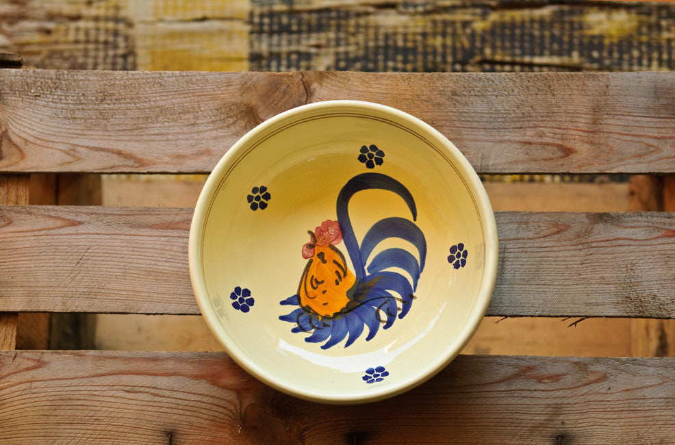 Hand-Painted Rustic Soup & Pasta Bowl