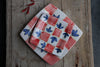 Quadrati Hand-Painted square side and dinner plates