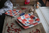 Quadrati Red, White, and Blue Square Dinner Set