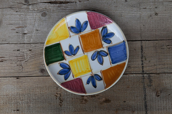 hand-painted colorful dinner plate