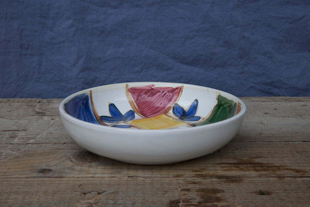 Hand-Painted Ceramic Soup & Pasta Bowl