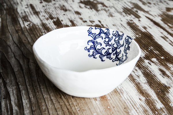 Iris Handmade Decorated Porcelain Bowl Made In Italy