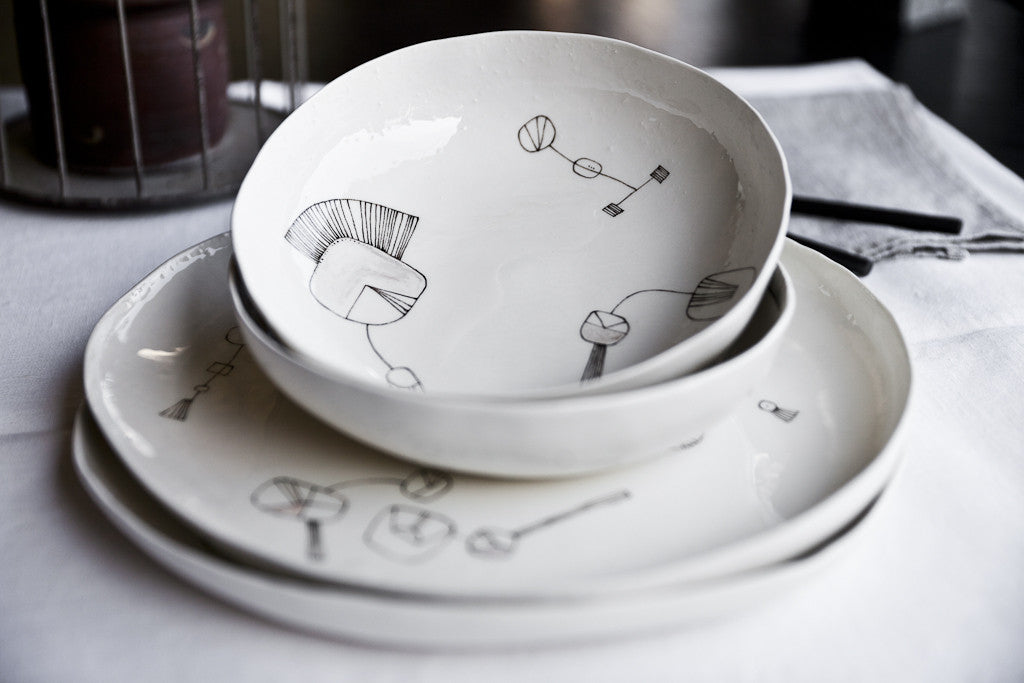 Handmade Ceramic Dinner Set by arGYla
