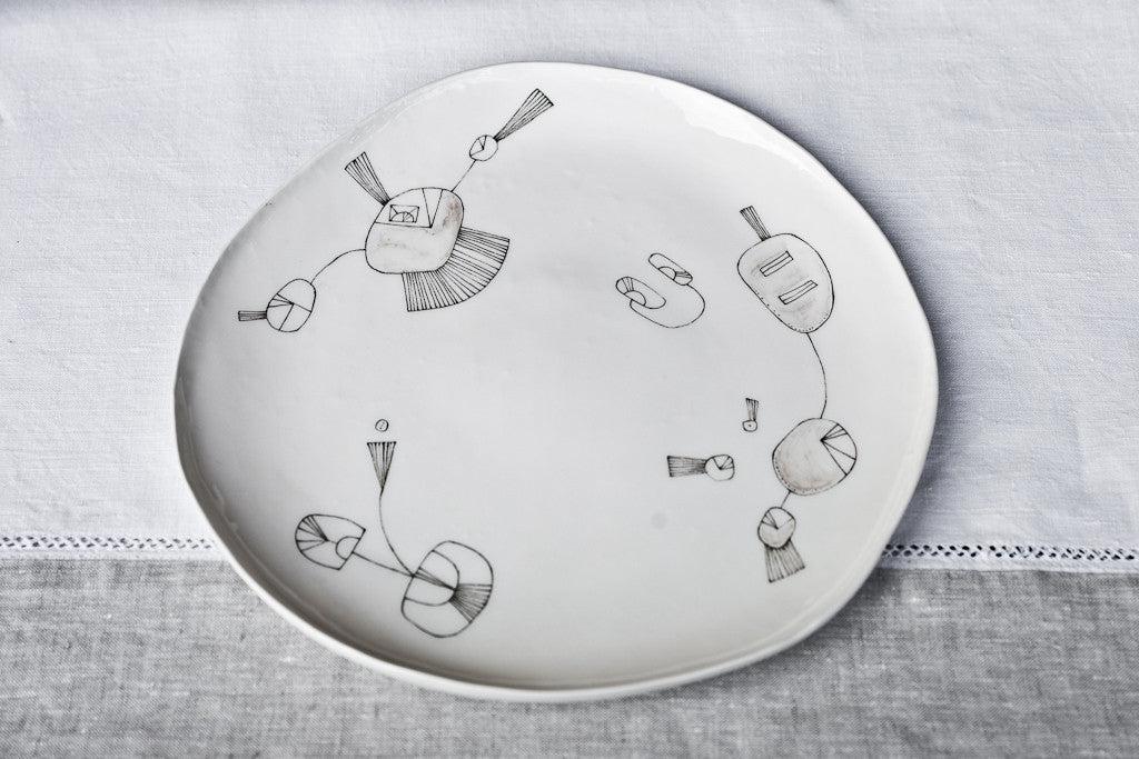 Irregular-Shaped Ceramic Dinner Plate, italian dinner plates, cool dinner plates