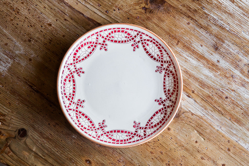 Hand-painted Ceramic Dish Made in Italy