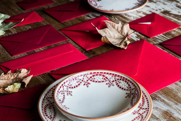 Mosaico Rosso - Hand-Painted Xmas Dinner Set