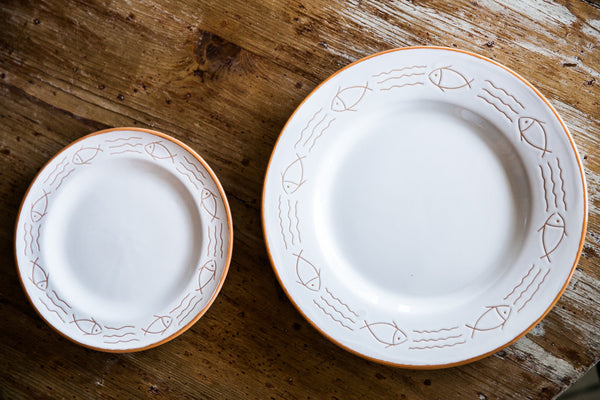 Mediterraneo Dinner Plates Hand Painted By Fasano
