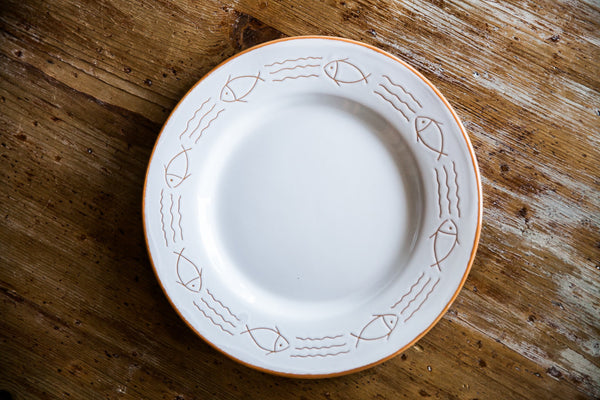 Handmade Ceramic Dinner Plate Made in Italy