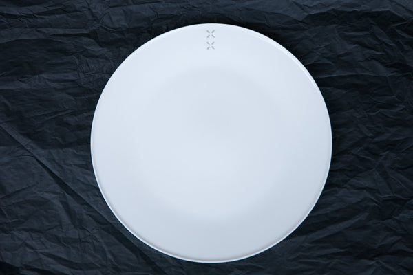 rice-grain porcelain dinner plate