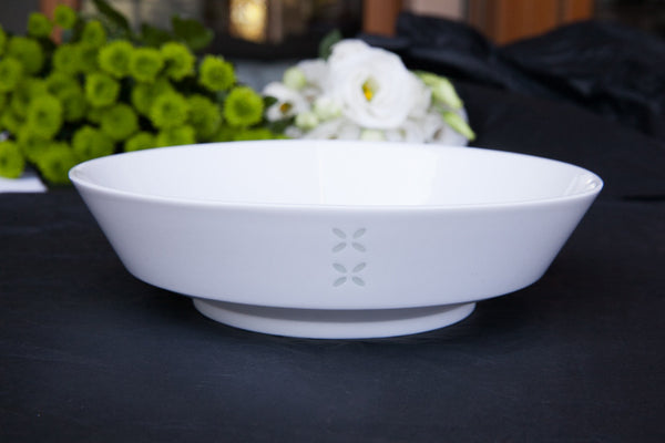 rice-grain porcelain pasta bowl