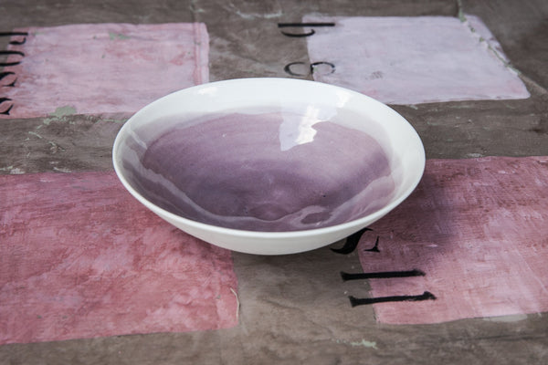 Porcelain Side Bowl with Watercolor Effect