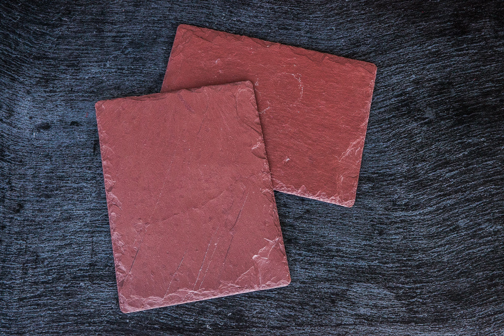 red slate platter cheese board