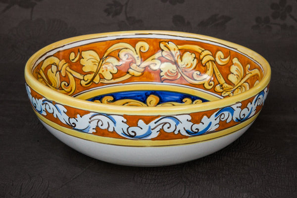 Sicilian Baroque Handmade Serving Bowl