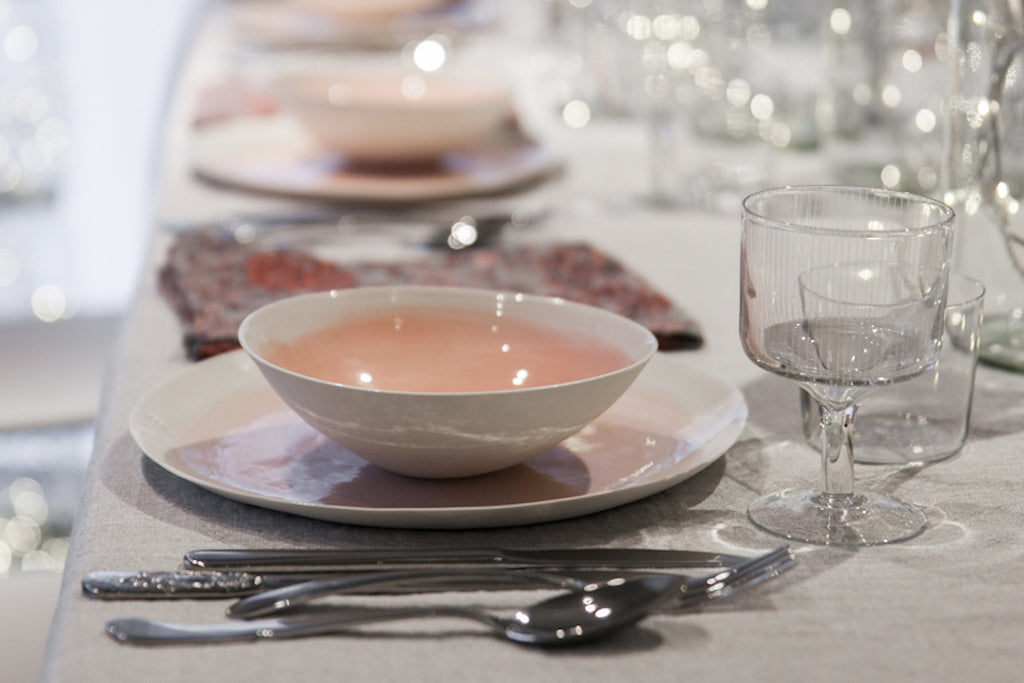 Acquarello - Elegant handmade porcelain dinner set