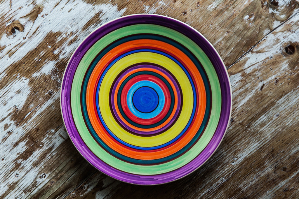 Arcobaleno - Handmade Colorful Ceramic Dinner Plate