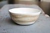 Handmade White and Sand Ceramic Bowl