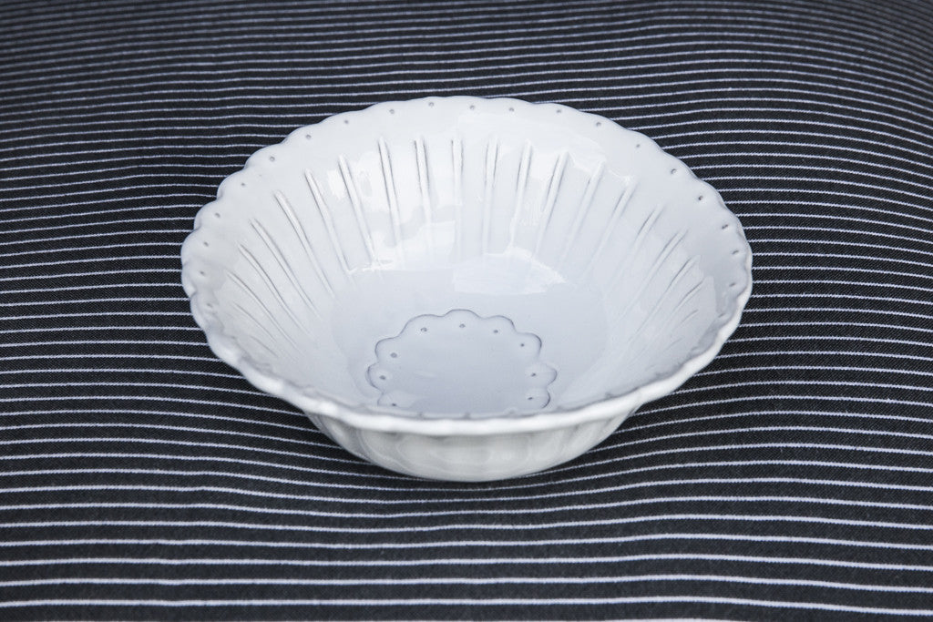 Shabby-Chic Ceramic Side Bowl