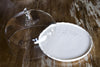 Ricamo White Serving Platter with Glass Lid