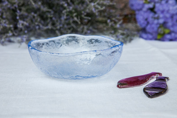 Aqua - Handmade Pastel Glass Side Bowl & Retro and Vintage Style Dinner Plates Bowls and Dinnerware \u2013 DishesOnly
