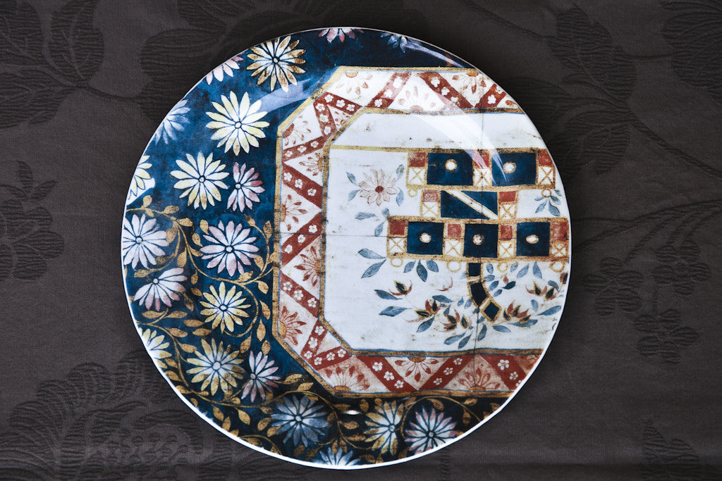 Printed Glass Dish Made in Italy, Handmade dinner plate, Unique dinner plate, cool dinner plate, italian designer dinner plate, italian style dinner plate, high end dinner plate, artisan dinner plates, expensive dinner plate, stylish dinner plate