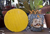 Yellow Handmade Glass Serving Platter by Forme Roma