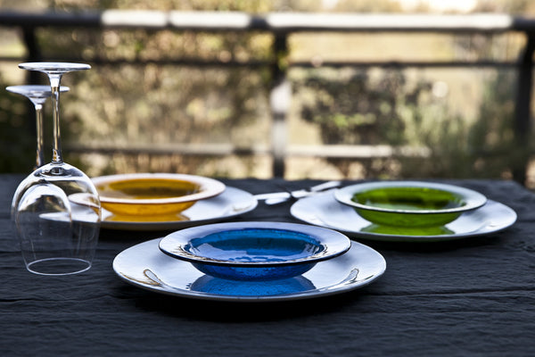 Printed Glass Dishes Made in Italy