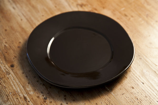 Handmade Chocolate Color Ceramic Dinner Plate