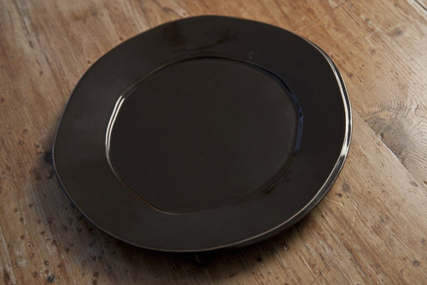 Handmade Chocolate Color Ceramic Charger Plate