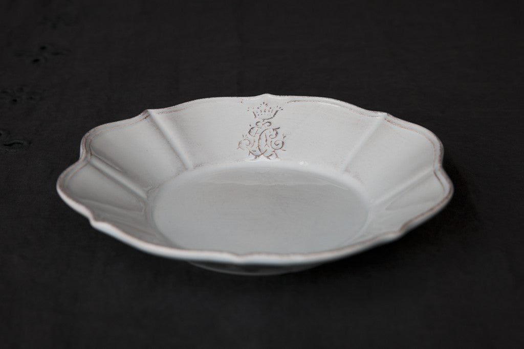 Italian Ceramic Scalloped Soup & Pasta Bowl