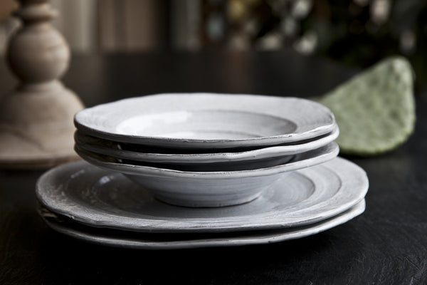 Pietra Aged White Dinner Set by Virginia Casa
