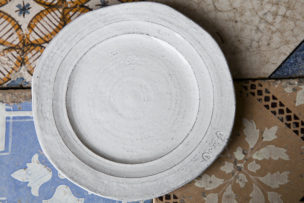 Shabby-Chic Italian Ceramic Side Plate