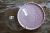 Ricamo Mauve Serving Platter with Glass Lid