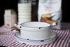 Battello Porcelain Enamel Cooking Pot and Side Plates