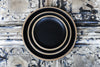 Loto-Black Porcelain & Bamboo Dinner Plate