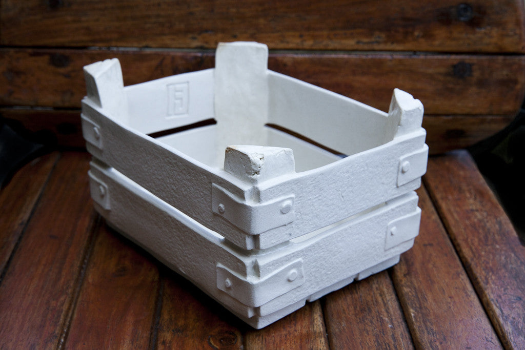 Handmade White Porcelain Bread Basket