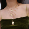 Layered Rose Cross Choker Necklace JAH234