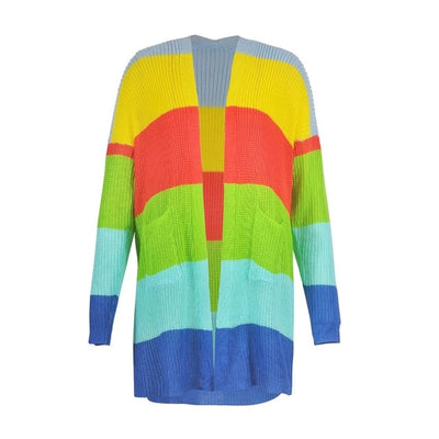 Kawaii Rainbow Striped Cardigan Sweates JCA815